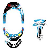 MJR Series Leatt Brace Decal Kit