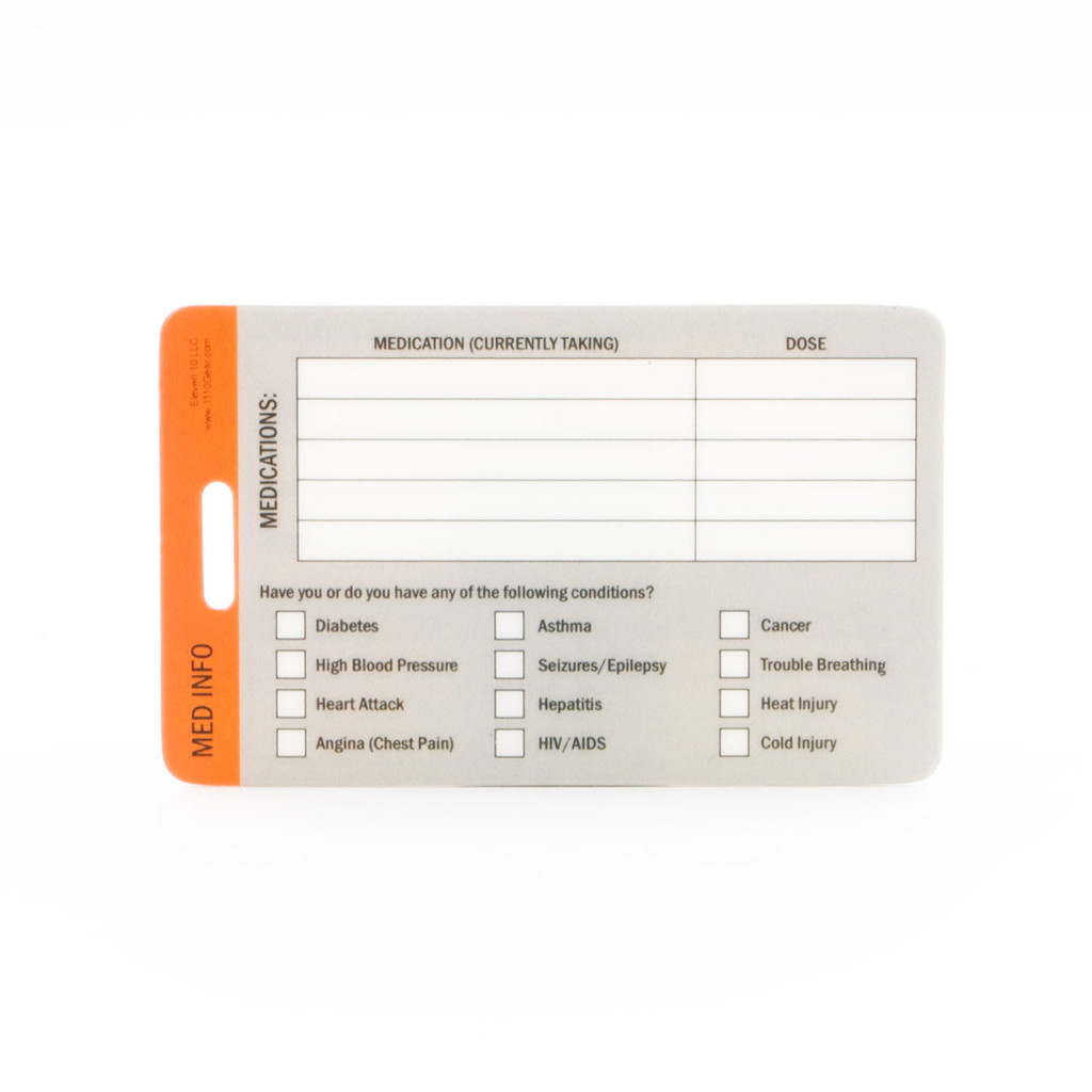 Medical ID Cards - 3 Pack