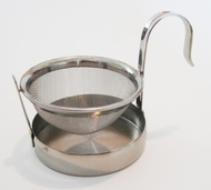 Tea Strainer with Drip Cup Stainless Steel