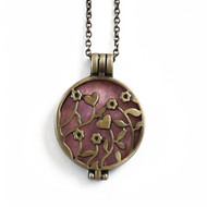 Aromatherapy Diffuser Locket Necklace for Essential Oils Heart Bronze
