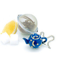 Mesh Tea Ball with Celestial Teapot Weight