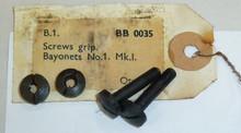 9, 10:  Bayonet No. 1 Grip Screws