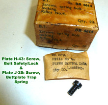 43 - Screw for Safety/Bolt Lock & trap, butt plate