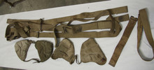 Lot: Webley Holster, Binocular Cases, Sten Sling