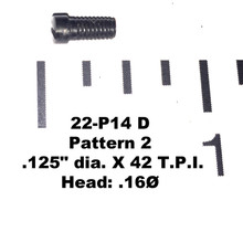 "22: SCREW, .125"" dia. X 42 T.P.I. - Pattern 2"