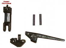 MG42 Front Sight Assembly WW2 (Front Sight w/ spring & plunger, Flash-Hider Latch, Base, & Rivets) EARLY PATTERN