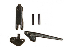 MG42 Front Sight Assembly WW2 (Front Sight w/ spring & plunger, Flash-Hider Latch, Base, & Rivets)