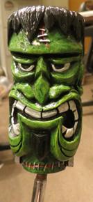 TALL Green Tiki Shift Knob