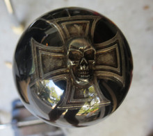 3D Skull in Iron Cross Shift Knob