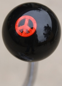 Small Red Peace Sign Shift Knob #2