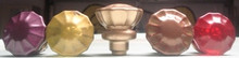 Vintage Painted Glass Doorknob Shift Knob