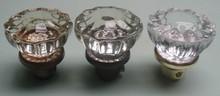 Vintage Glass Bevelled Door Knob Shift Knob
