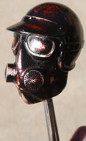 """Blood Stone"" Distressed Red Gasser #2 Shift Knob"