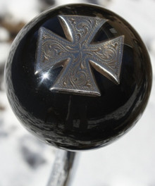 Etched Chrome Iron Cross Shift Knob