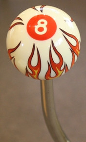 Flaming 8 Ball Shift Knob