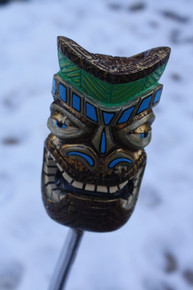 Cool Colorful Hand Painted Resin Tiki God