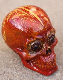 Lil Dame Hand Painted Over Sized Sugar Skull #2