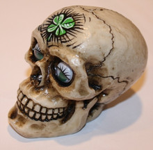"""Crash"" Shamrock Girly Skull Shift Knob"