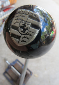 Pewter Porsche Shield Shift Knob