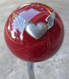 Burgundy Flying Heart Shift Knob