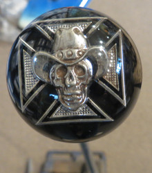 Cowboy Skull Iron Cross Shift Knob