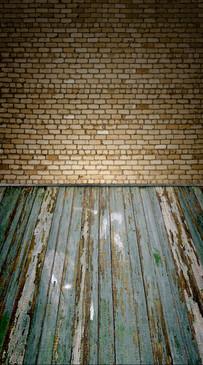 Blonde Brick Room Backdrop