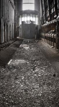 Abandoned Machine Room Backdrop