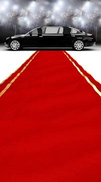 Limo & Red Carpet Backdrop