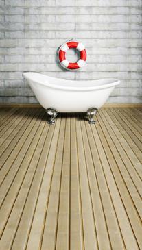 Bathtub Pin-up Backdrop