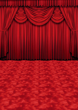 Crimson Curtains Backdrop