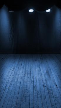 Blue Spotlit Stage Backdrop