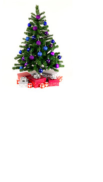 Lovely Little Christmas Tree Backdrop