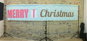 Christmas Banner 14x3 JerseyCloth Backdrop