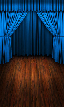Blue Curtains Backdrop