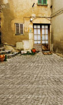 European Alley Photography Backdrops
