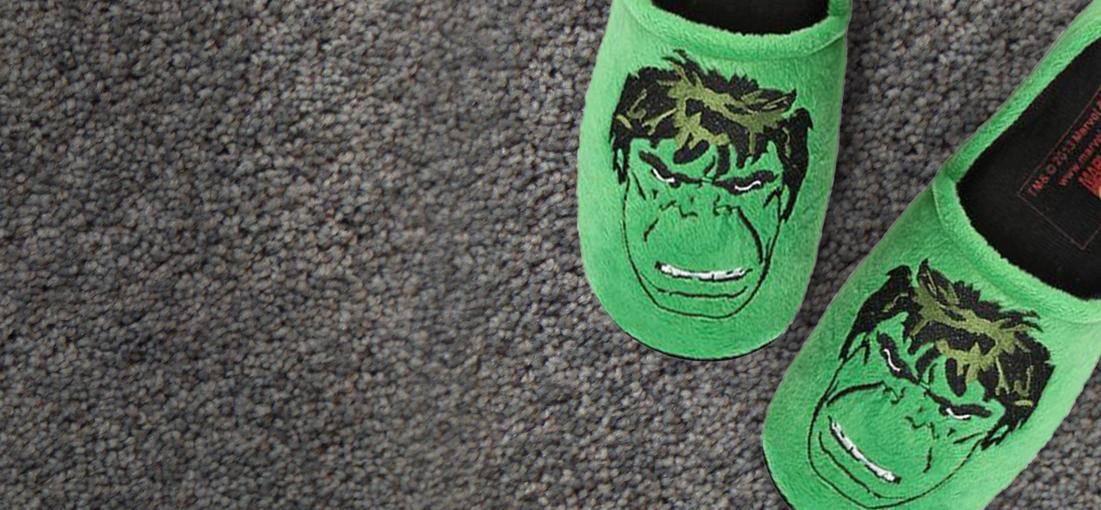 Hmmm, Warm Fuzzy Feeling in Hulk Slippers