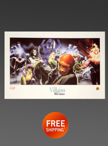 Marvel Universe VILLAINS Alex Ross Lithograph Marvel Comics Limited Edition