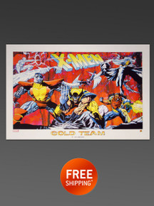 X-MEN GOLD TEAM LITHOGRAPH - Alex Ross