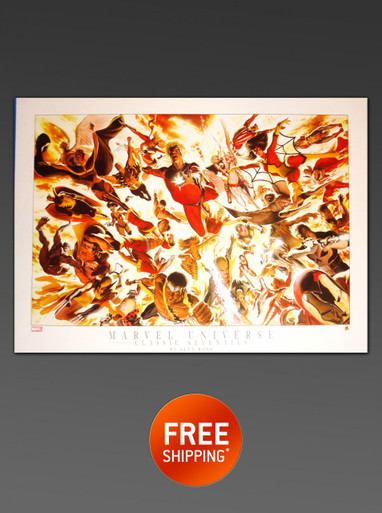 Alex Ross takes on the 1970's Marvel Universe - Limited Edition Lithograph