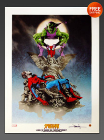 SPIDER-MAN Goblin Triumphant Limited Edition LITHOGRAPH Signed by artist JAE LEE