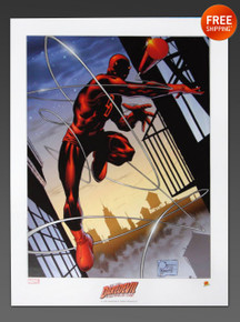 Joe Quesada Daredevil Art Print