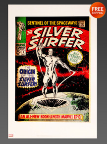 Silver Surfer #1 Fine Art Lithograph by Buscema Sinnott from Marvel Comics and Dynamic Forces