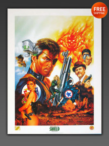 NICK FURY Limited Edition Lithograph by artist JOE JUSKO from Marvel Comics and Dynamic Forces
