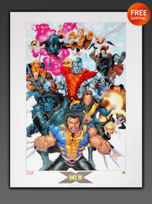 X-MEN Marvel Comics Limited Edition Lithograph By Artist Salvador Larroca
