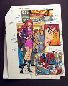 Adventures of Spider-Man #11 Art - Original hand colored specs Kevin Tinsley for Marvel page 5