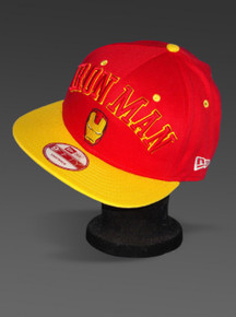 Iron Man 2 Red and Yellow New Era 9Fifty Snapback Hat Adjustable Cap from Marvel Left