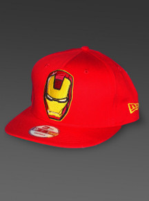 IRON MAN New Era 9Fifty Snapback Hat Marvel Comics Adjustable Avengers Cap Red