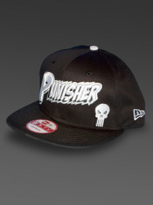 Punisher New Era 9Fifty Snapback Hat Marvel Comics Adjustable Cap in Black Left