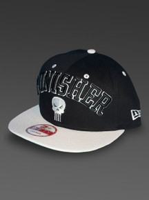 Left side of PUNISHER New Era 9Fifty Adjustable Snapback Hat from Marvel