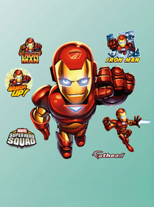 FATHEAD Iron Man: Super Hero Squad Graphic Wall Décor All